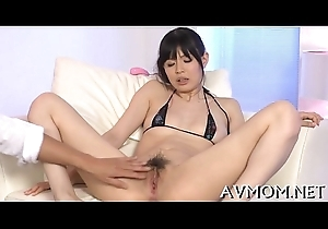 Oriental nun goes amoral take hairy cunt