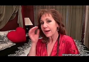 American milf Tracy gives their way pantyhosed cookie a treat