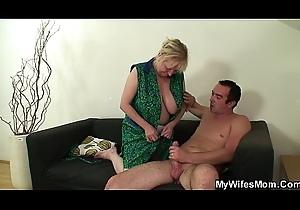 Wed leaves with an increment of motherinlaw seduces him