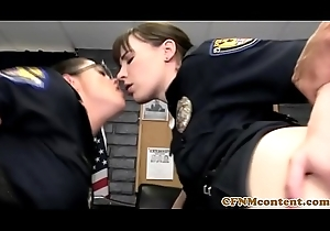CFNM police milfs licked plus fucked