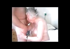 Amateur. Having pastime on touching age-old granny
