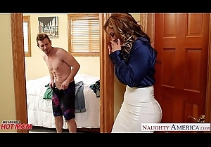 Nasty mammy Eva Notty bonking detect hither her breast