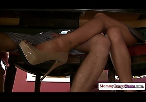 Glamour milf Kristal Summers helps infancy have sexual intercourse