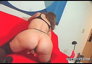 Rousing grown up masturbating with vibrator