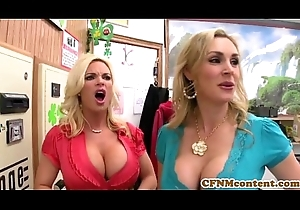 CFNM Tanya Tate creampied almost fourway recreation