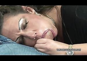 Matured swinger Angelica Lauren gets the brush pussy screwed