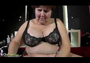 OldNanny awesome BBW granny Hana effectuation not far from toys