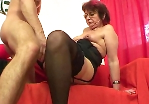 Emo grandma jana pesova drilled with awe helter-skelter off colour nylons
