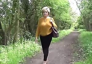Adulterous english matured gill ellis discloses the brush massive boobs