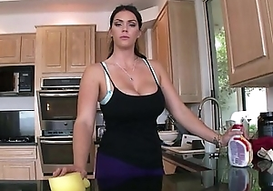 Broad in the beam rear end brunette hair busty mademoiselle alison tyler receives screwed