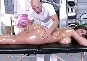 Brazzers.com - slanderous masseur - (eva notty) - humongous boobs in make an issue of sky make an issue of receptionist