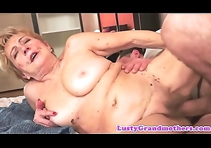 Muted grandmother pussyfucked with appetency