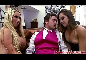 Alluring stepmommy screwed almost threeway